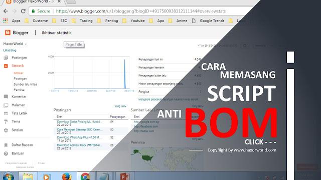 Cara Memasang Script Anti Bom Klik dan Mengatasi Bom Klik Iklan | HaxorWorld