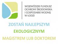 Logo konkursu Ekologiczny magister i doktor WFOŚiGW w Łodzi