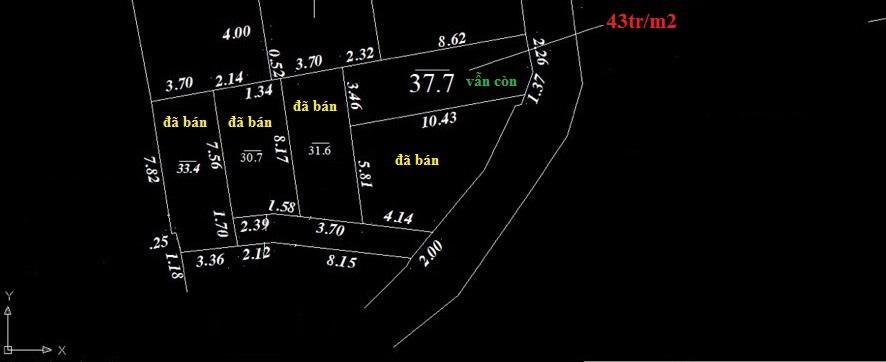 Vị trí cụ thể, diện tích các mảnh và giá bán thực tế mảnh đất Cổ Nhuế giá rẻ
