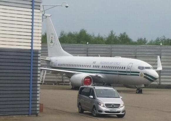 Nigeria's Presidential Jet Parked in london