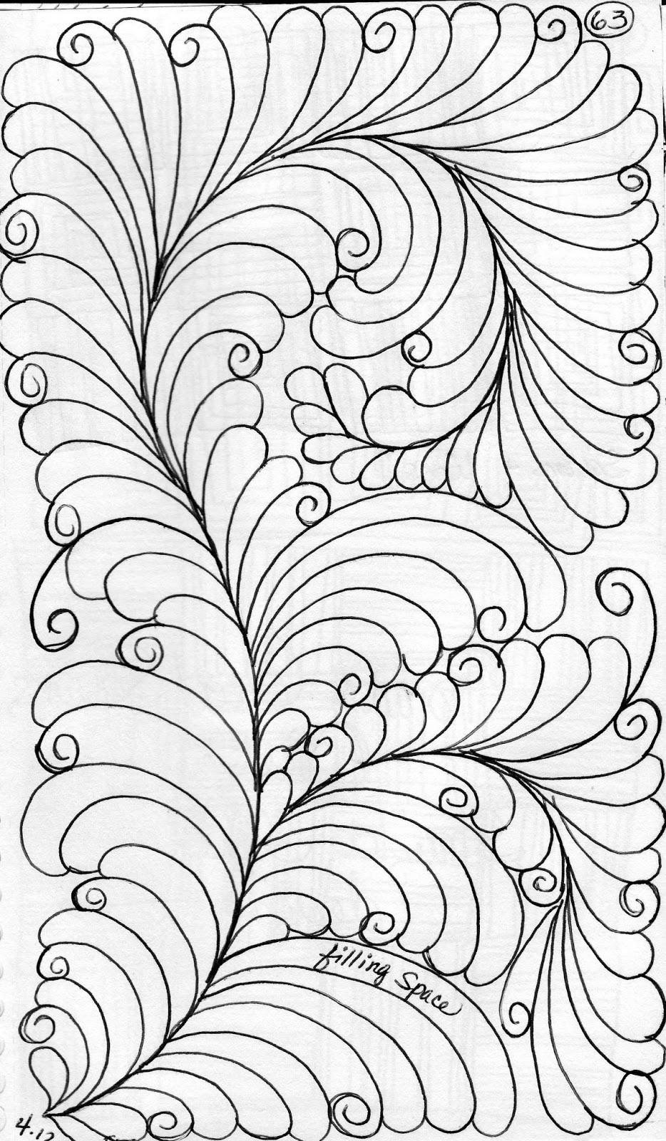 LuAnn Kessi: Machine Quilting......Feathers