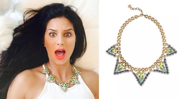 Bachelor in Paradise - Samantha in Stella & Dot Palmia Necklace