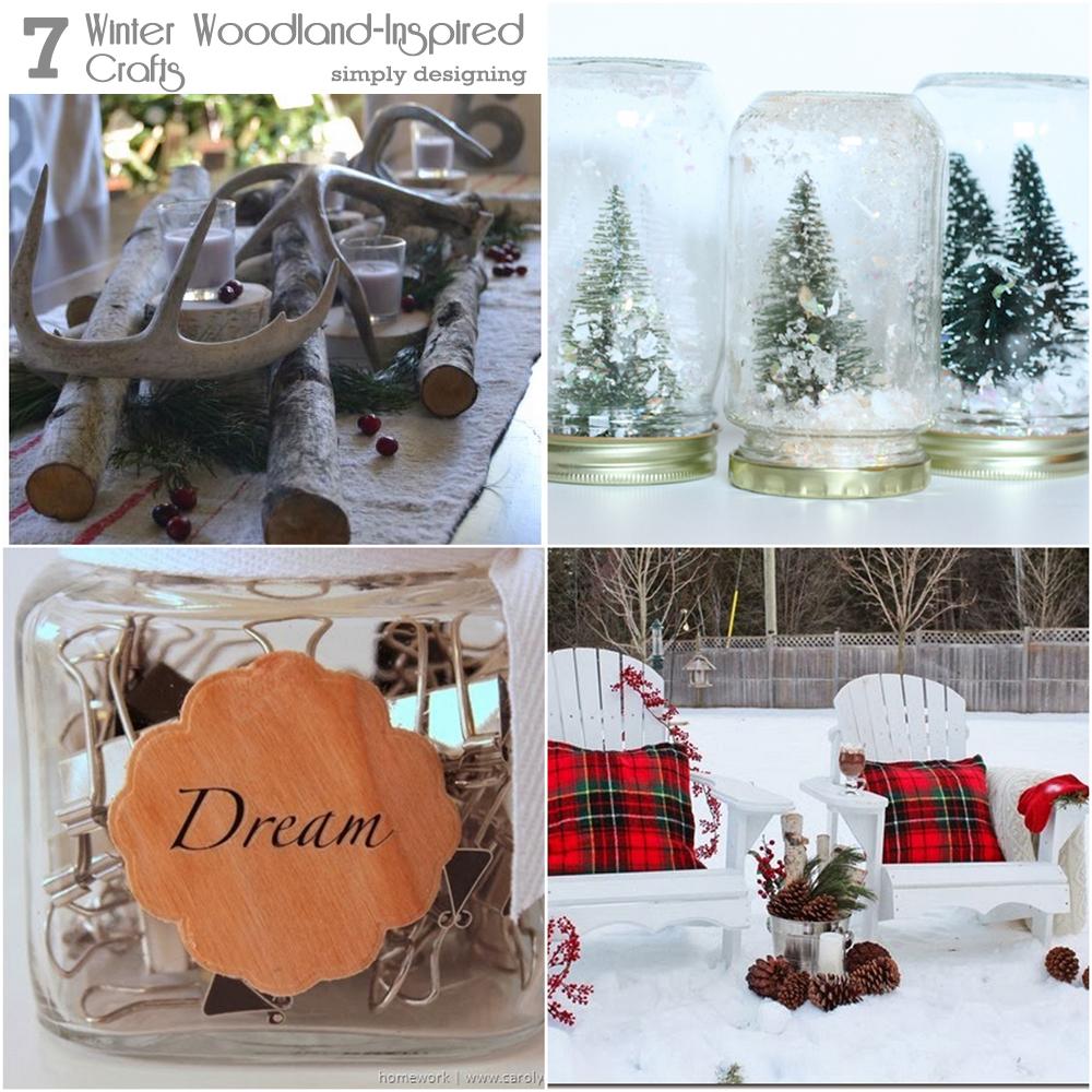 7 Winter Woodland Inspired Crafts | #wintercrafts #crafts #diy #woodland