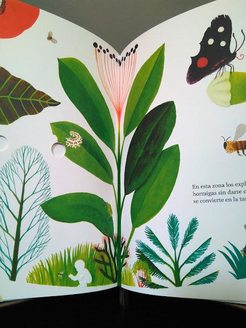 Página interior del libro ilustrado El Bosque de Riccardo Bozzi, ilustrado por Violeta Lópiz y Valerio Vidali