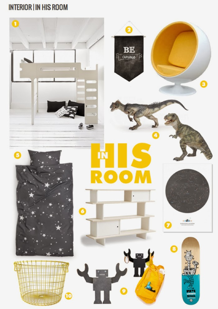 Yellow for boy's room