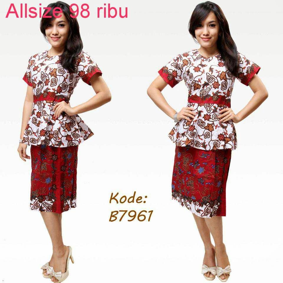 Macam Model Baju Batik: Contoh Model Baju Batik Untuk Kerja