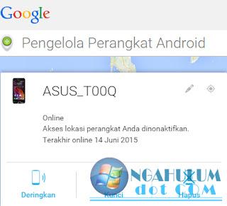 cara melacak ponsel android hilang
