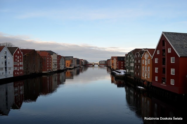 Norwegia zimą- Trondheim