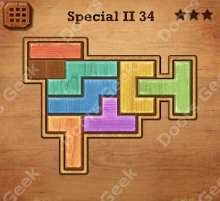 Cheats, Solutions, Walkthrough for Wood Block Puzzle Special II Level 34