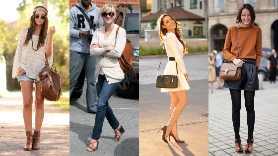 Sapato combinando com a bolsa