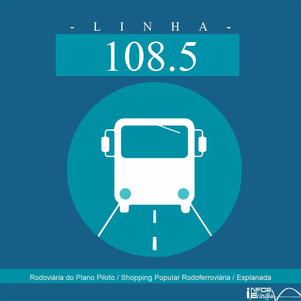 Horário de ônibus e itinerário 108.5 - Rodoviária do Plano Piloto / Shopping Popular Rodoferroviária / Esplanada