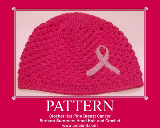 crochet hats, how to crochet, breast cancer hats, pink ribbon,