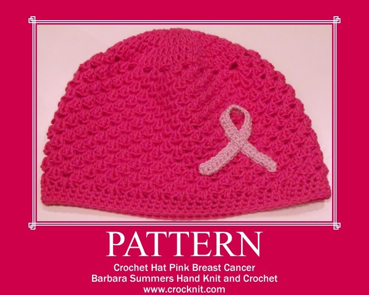 Breast Cancer Knitting Patterns : MICROCKNIT CREATIONS: CHARITY HAT PATTERN