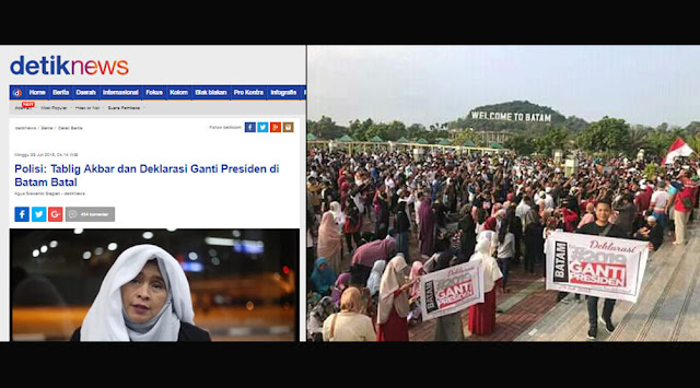 #2019GantiPresiden Batam