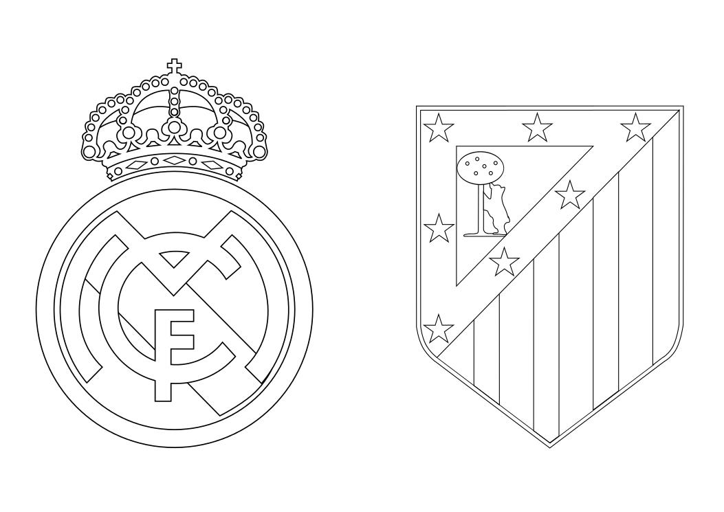 Dibujos Para Colorear Escudo Real Madrid: Escudo Real Madrid Para Colorear. Escudos Real Jaen Cf