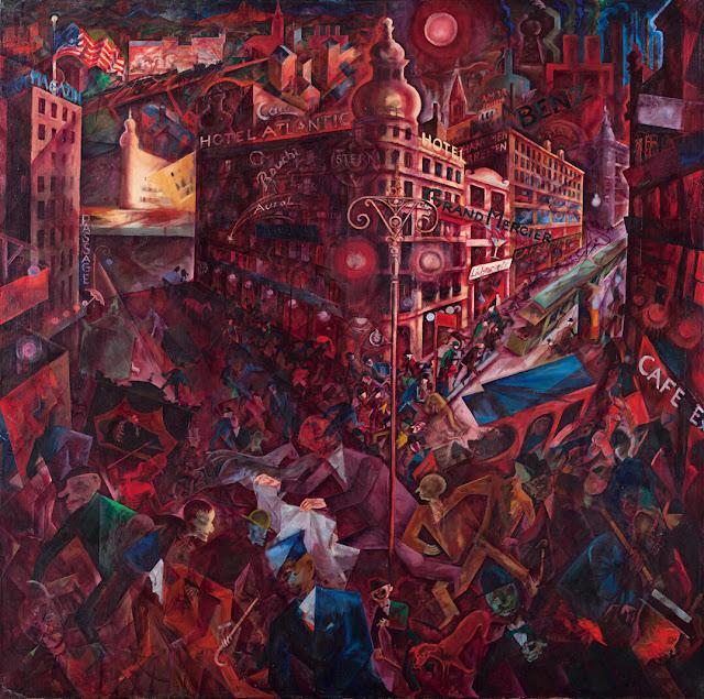 Metropolis painting by George Grosz, 1917-18 / Μητρόπολις, πίνακας του Τζορτζ Γκρος, 1917-18