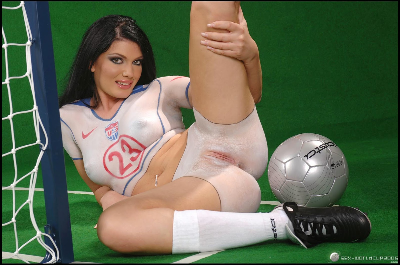 For that world cup nude body painting
