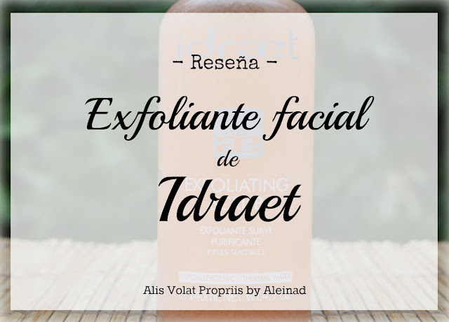 Exfoliante facial suave purificante rostro Idraet Reseña