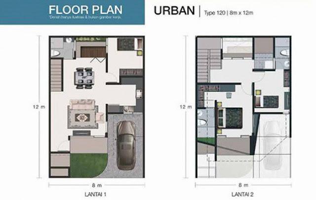 Floor Plan Tipe The Urban Habitat Setiabudi Medan Sumatera Utara
