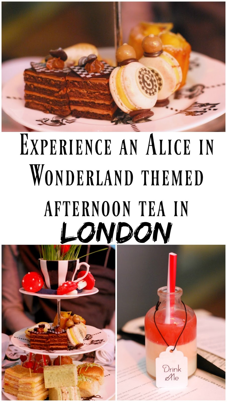 PIN FOR LATER: Experience an Alice in Wonderland themed afternoon tea at the Sanderson Hotel in London, England! This ADORABLE afternoon tea is called the 'Mad Hatters Tea' and features whimsical food and cute crockery. One of the best afternoon teas in London!