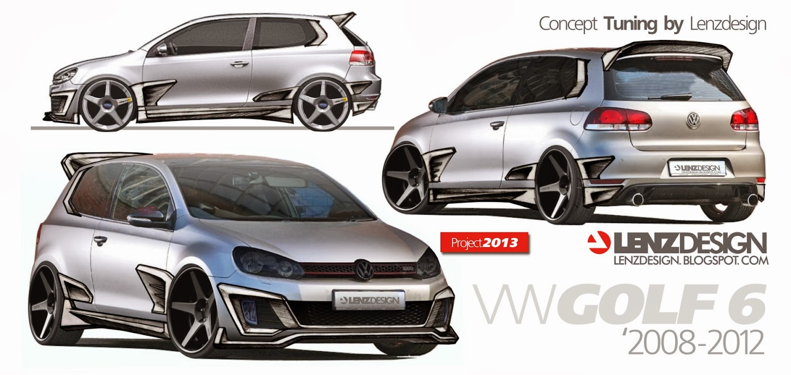 vw golf 6 tuning israel lenzdesign performance body kit. Black Bedroom Furniture Sets. Home Design Ideas