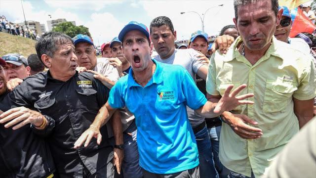 Capriles desobedece inhabilitación y anuncia gira por todo el país