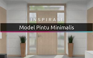 20 model pintu minimalis modern dengan desain stylish dan elegan terbaru