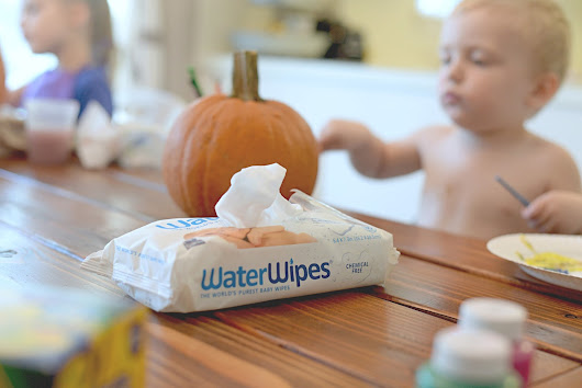 Pumpkin Painting Fun {with WaterWipes}