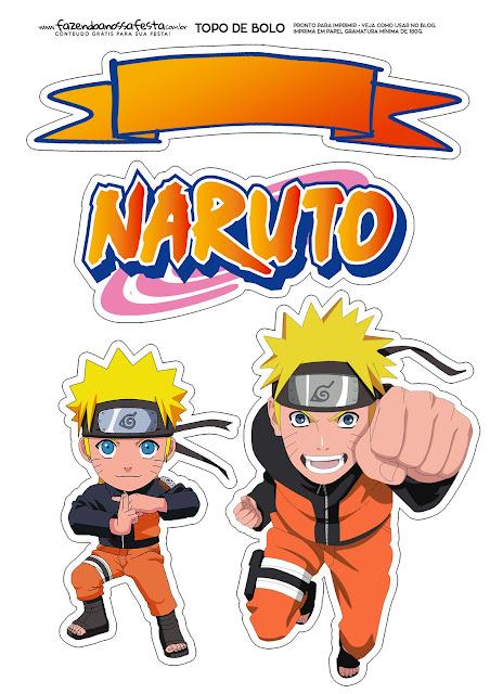Naruto: Free Printable Cake Toppers.
