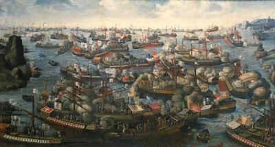 Pintura de la batalla de Lepanto