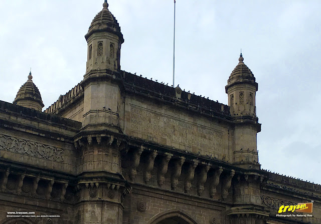 A closer look at the inscription on the Gateway of India