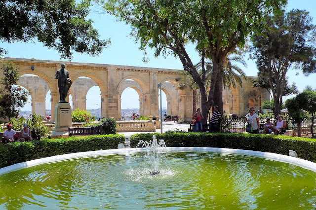 Another shot of the Upper Barracca Gardens in Valletta, Malta. Photo: Wolfgang Jung.
