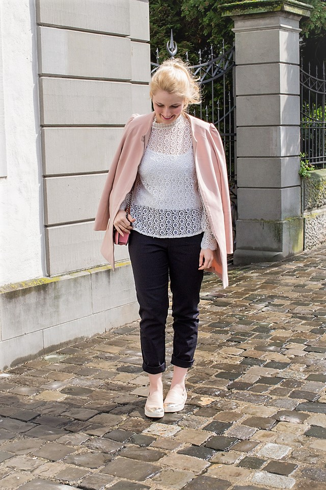 Lace Bluse und Anzugshose