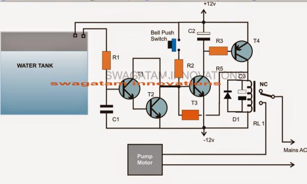 push button auto off semi automatic water level controller