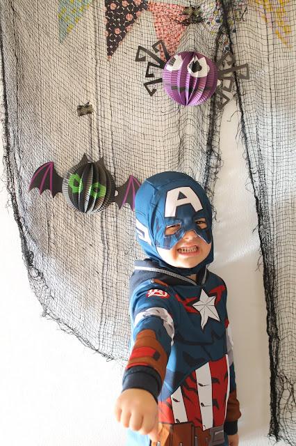 Captain America Halloween Superhelden Geister Laternen Jules kleines Freudenhaus