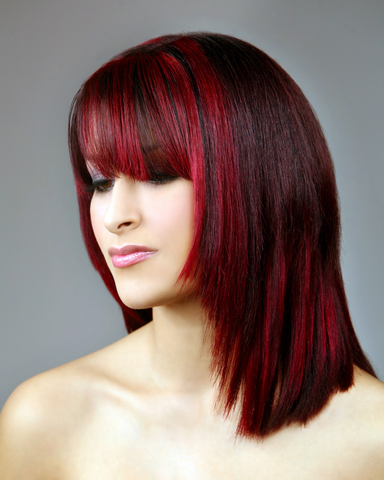 Red Hair Color Ideas Highlights