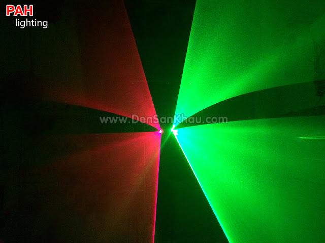 Hiệu ứng Red Green đèn tia laser Bicolor