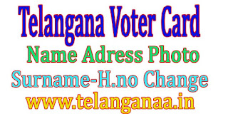Telangana TS Voter Id Card Data Correction Name Change Online Apply