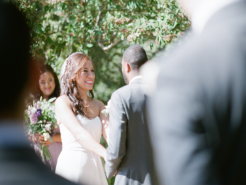 Wedding ceremony at El Cerrito Hillside church, fine art photography