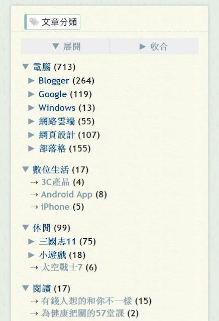 tree-label-v2-demo-Blogger 文章分類﹍樹狀標籤 V2.0 -- 安裝懶人包
