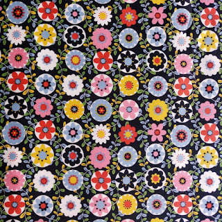 Sevenberry Floral Circle Canvas Cotton