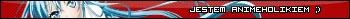 Userbar z hasłem Jestem animeholikiem w kolorze czerwonym