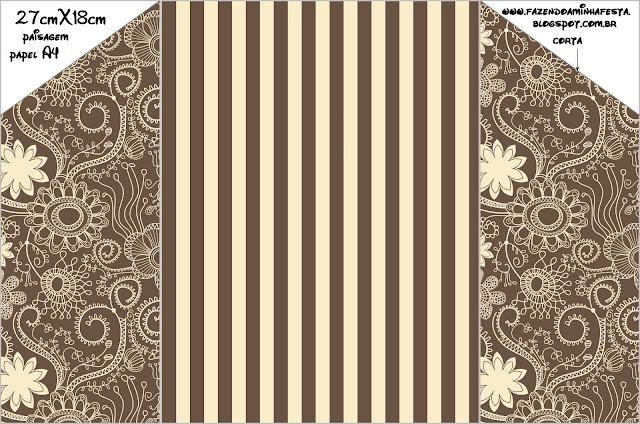 Invitaciones para imprimir gratis en marrón y beige rústico. | Ideas ...