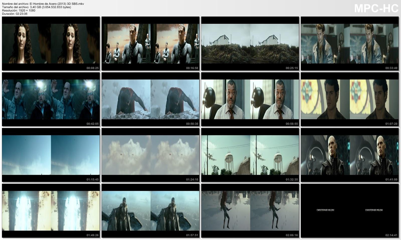 El Hombre de Acero 2013 HD 1080p 3D Español Latino cap 1