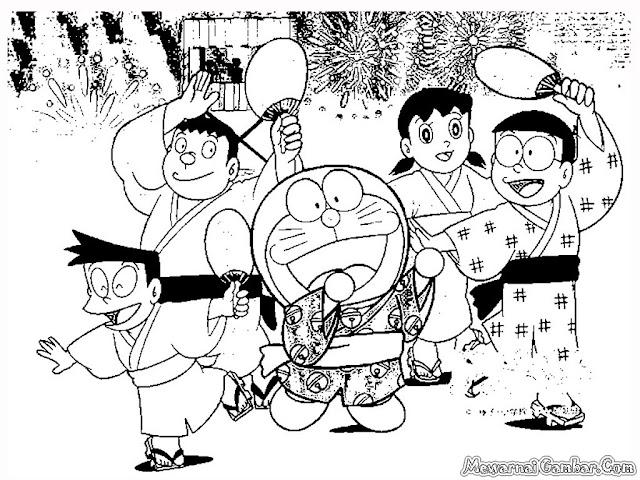 Mewarnai Tokoh Kartun Animasi Doraemon