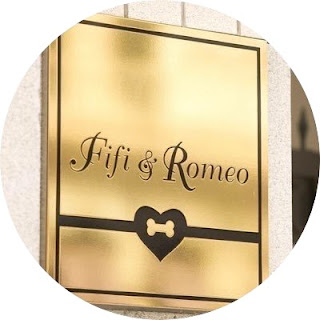 Fifi & Romeo gold heart & bone boutique website logo