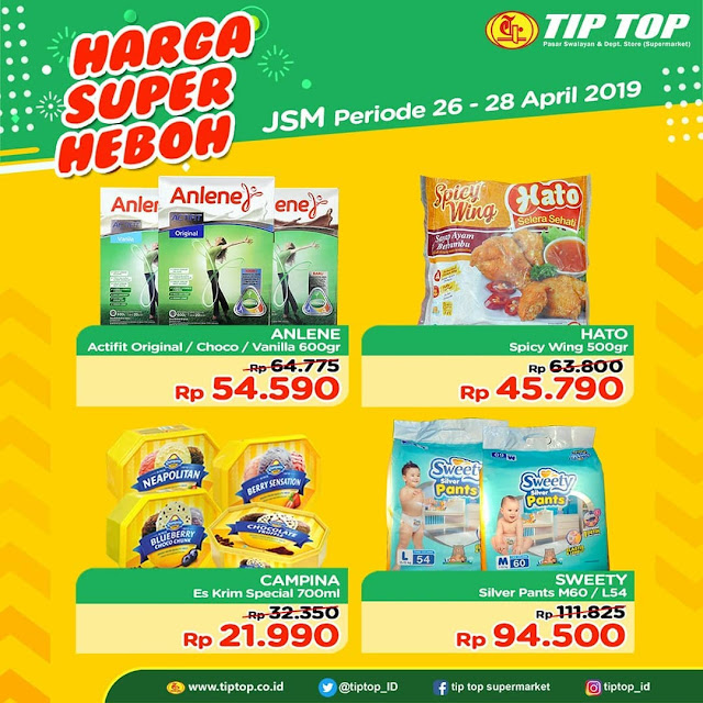 #TipTop - #Promo #Katalog JSM Harga Super Heboh Periode 26 - 28 April 2019