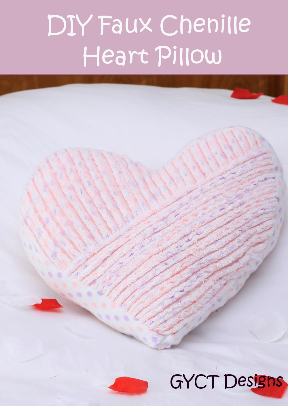 Faux Chenille Valentine Heart Pillow Tutorial Sew Simple Home