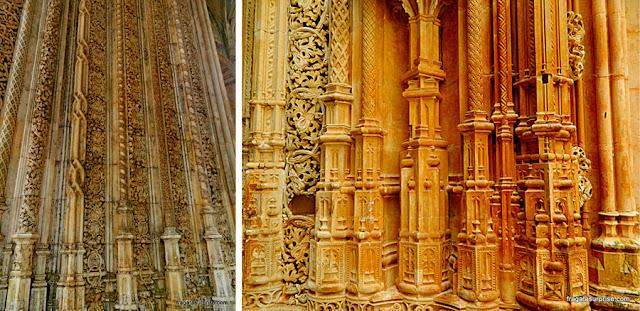 Detalhe da decoração das Capelas Imperfeitas, Mosteiro da Batalha, Portugal