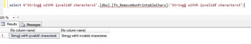 SQL-Compass: SQL Server: Remove non-printable Unicode characters